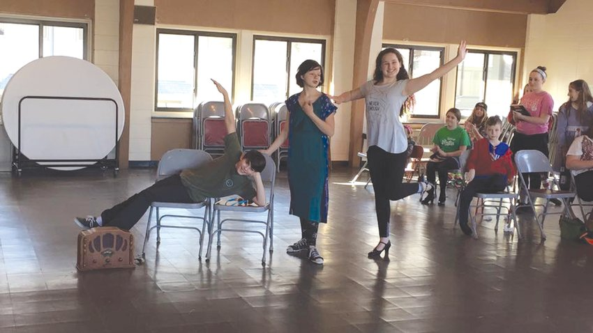 BACK TO PERFORMING: Students in rehearsals for the musical Annie, Jr. in 2016. The Rhode Island Youth Theater won't perform any musicals this year, but O'Grady hopes to bring one back to the stage soon.