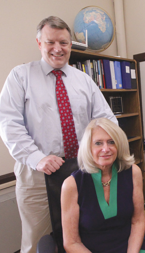 NEW TEAM: Superintendent Lynn Dambruch  and Assistant Superintendent William McCaffrey