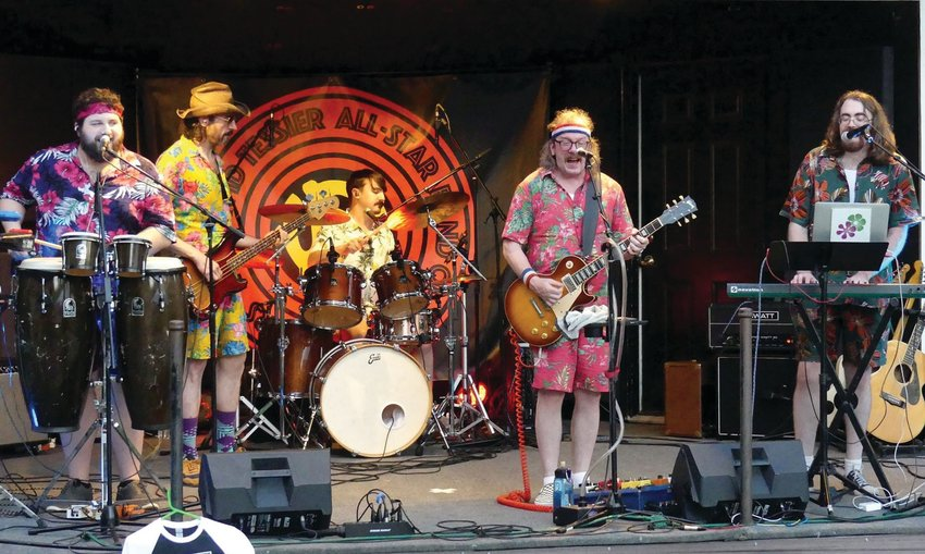 READY TO ROCK: The David Tessier All-Star Stars are set to take the stage at Dusk in Providence on the Fourth of July as part of Revival Fest. (Courtesy of Kari Tieger)