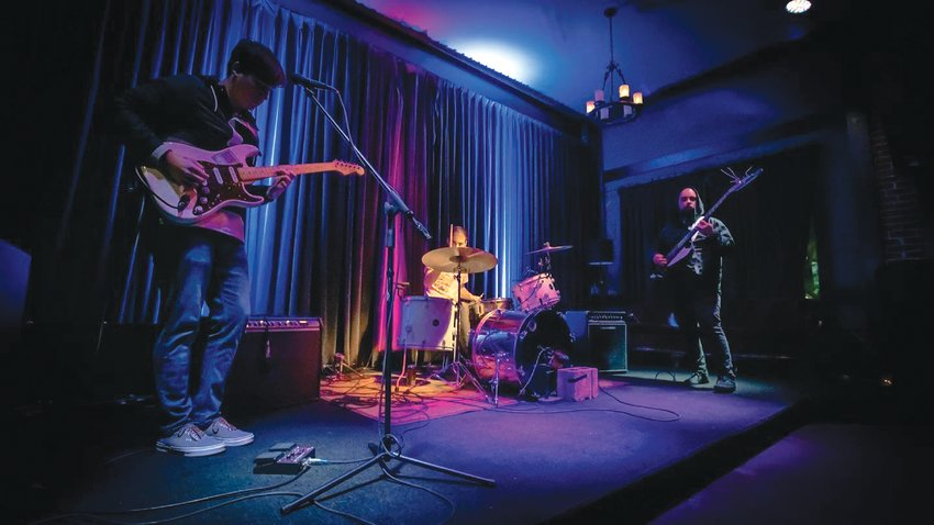 READY TO GO:Strip Mall guitarist and vocalist Vinnie Ortez, bassist Nick English and drummer Jack Anderson saw their growth as a band stalled by the onset of the pandemic, but now, they're set to release their first EP.