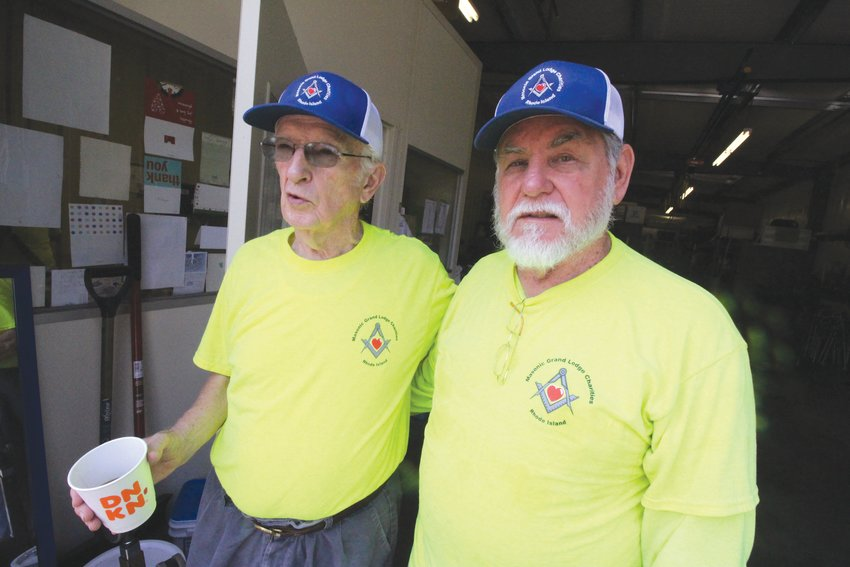 CARRYING THE MISSION ON: Bob Allen, who founded the Masonic Medical Distribution Center bearing his name, and George Donahue, who took over the reins in 2017.