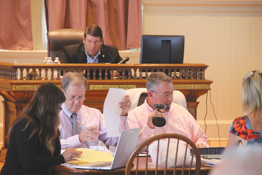 BACK IN PERSON: Warwick City Council was back to inperson meetings Monday. Here, Council President Steve McAllister looks on during a meeting of the Finance Committee.