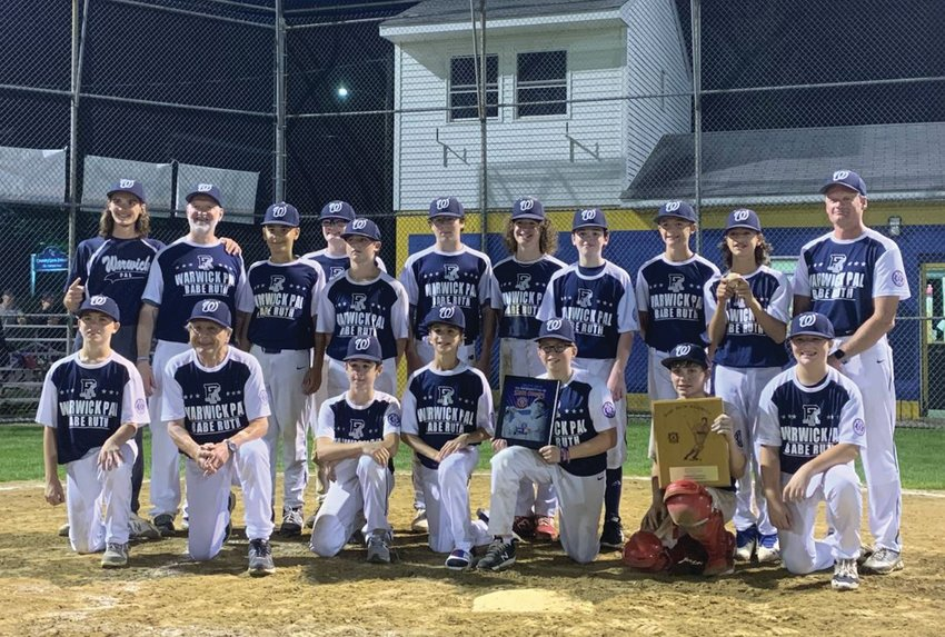 GETTING THE WIN: The Warwick PAL 13's after winning the state championship. (Submitted photo)