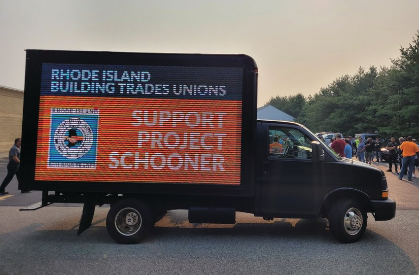LOCAL UNION JOBS: More than 100 members and leaders of local trade unions attended the public hearing Tuesday, voicing support for the proposed six-story retail distribution facility. The unions hope construction of the facility will provide work for their members.