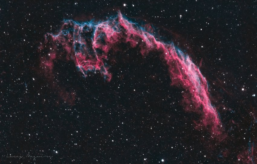 HOLY NEBULA, BATMAN! The Bat Nebula, also known as the Eastern Veil Nebula, is in the constellation Cygnus and is a large supernova remnant.
