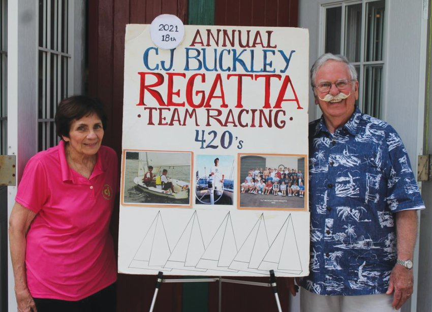 PROUD PARENTS: Carter and Lucy Buckley at this week's 18th annual regatta.
