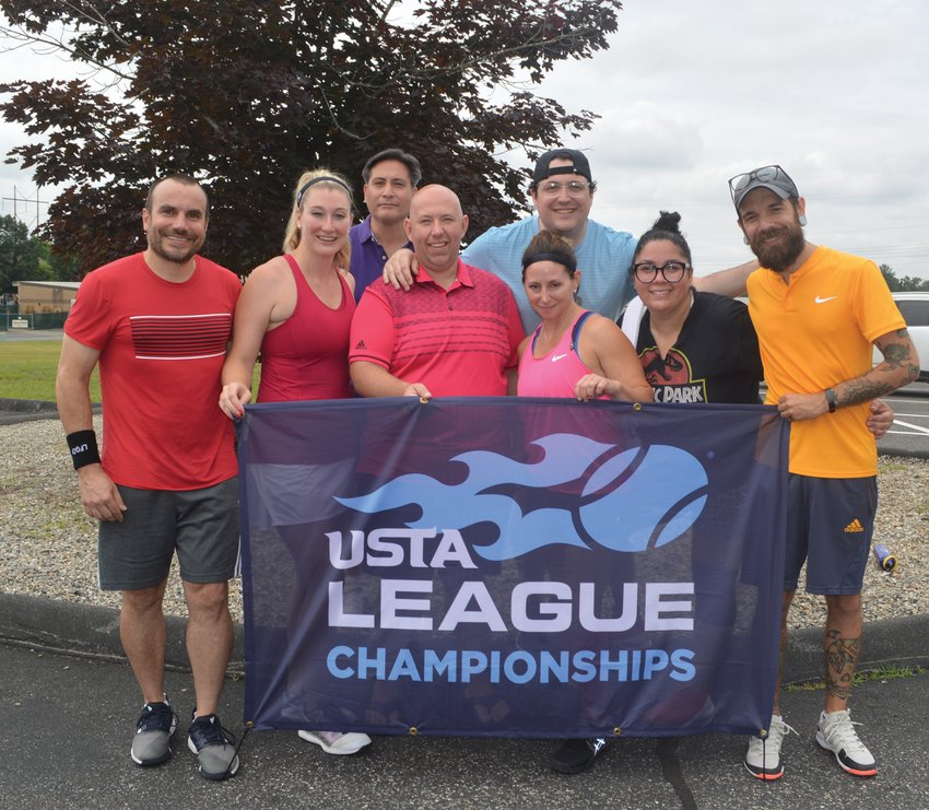 SECTIONAL CHAMPS: The East Bay Raquet Club tennis team that won the USTA sectionals.