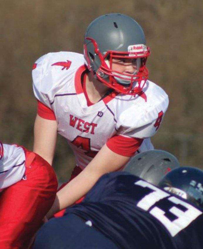 UNDER CENTER: Cranston West quarterback Matt Defusco last season.