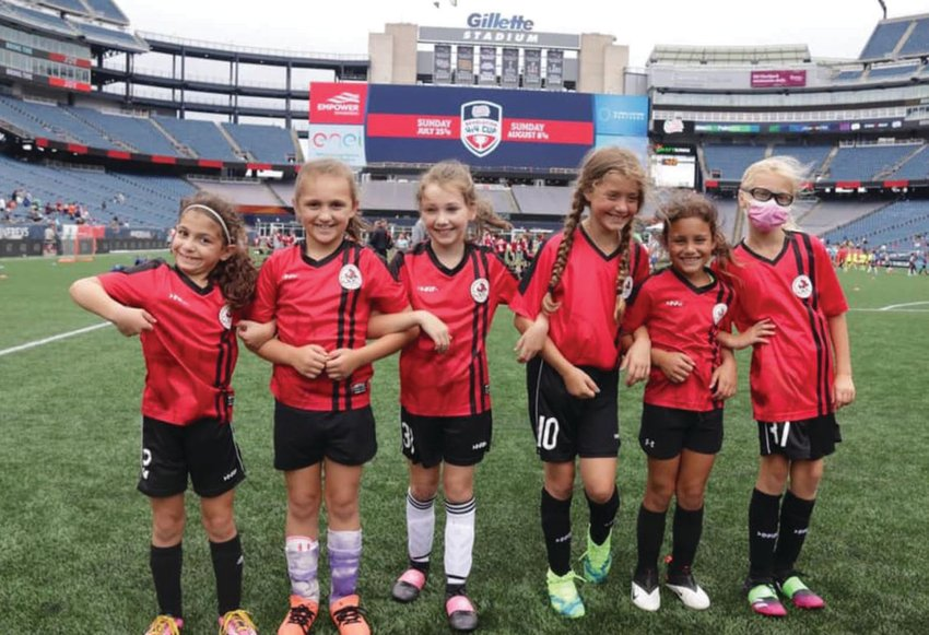 UNDEFEATED: The WFFSC 10-U team that went unbeaten in the Revolution tournament. (Submitted photos)