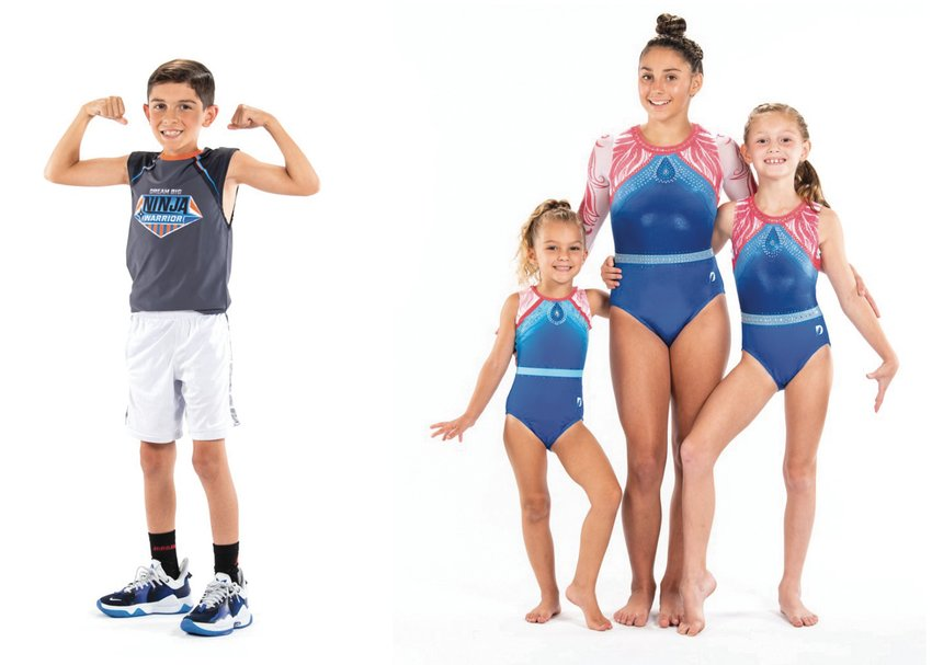 Meet some of the talented athletes at Dream Big Gymnastics, Ninja-athlete Ashton Cornicelli and gymnasts (left to right) Aria Ulak, Gianna Desmarais, and Brooklyn Richard. Register your future athlete for one of the many classes offered this fall!
