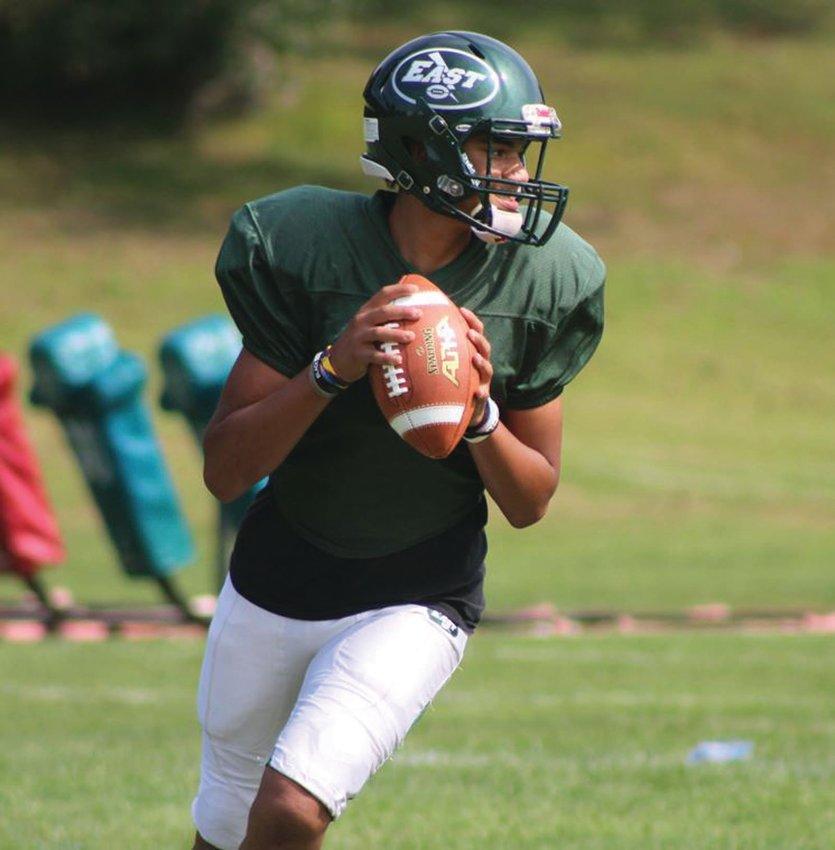 SIGNAL CALLER: New Cranston East starting quarterback Da'qwon Foster. (Photos by Alex Sponseller)