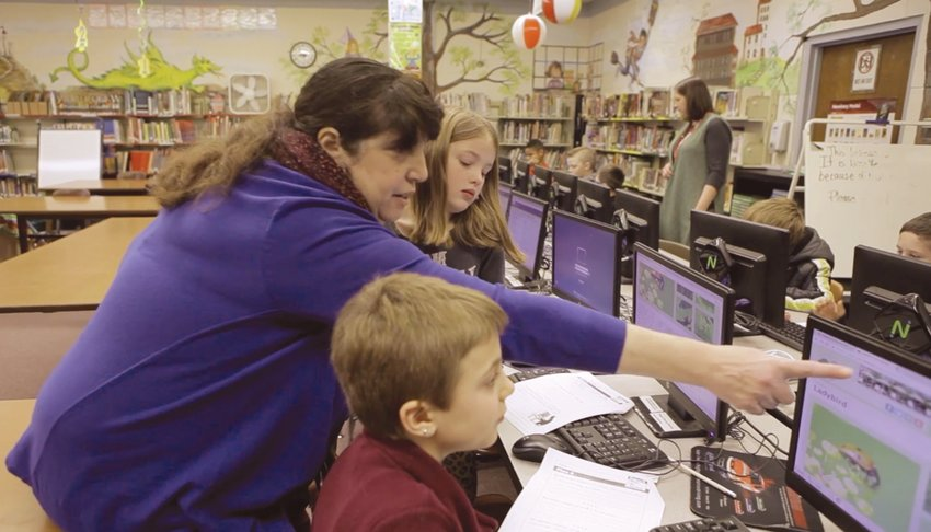 HUBS OF TECHNOLOGY: Esther Wolk, a school librarian from Coventry, teaches students research skills and how to smartly use resources like Google.