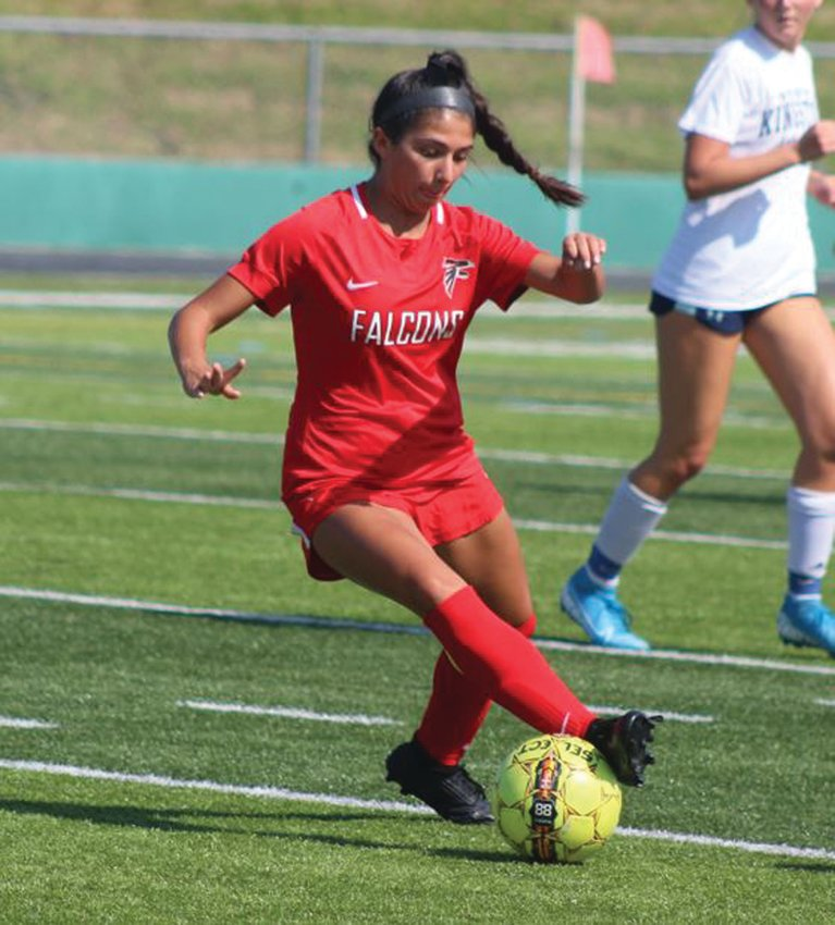 BREAKING OUT: West's Madeline Barbieri during the team's Injury Fund game