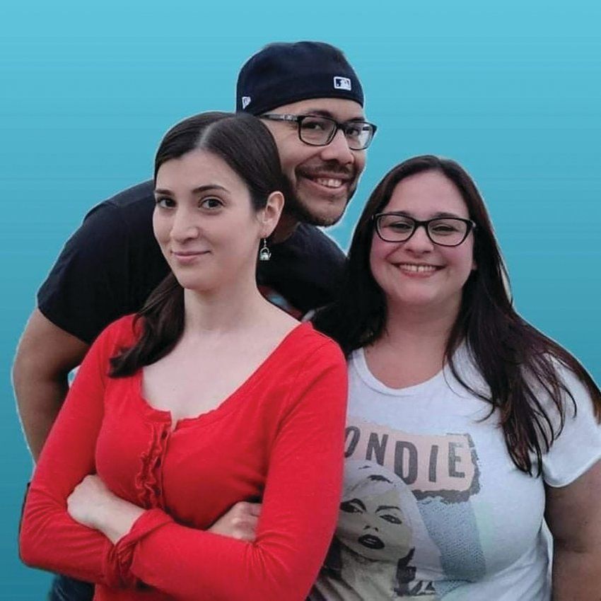 """TAKING THEIR TIME: Providence pop rock trio The Dust Ruffles – guitarist and vocalist Tammy Laforest, bassist Sharlene DeNardo and drummer Al Diaz – recently released their """"Innocent Filth EP."""""""