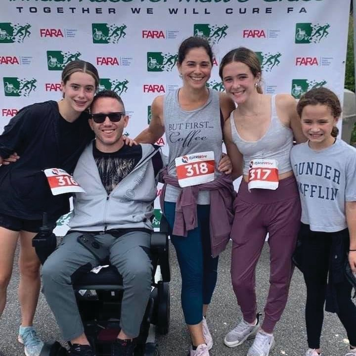 Mia Currier, Richie Currier, Maria Currier, Gabriela Currier, and Audra Currier attended the event which raised money for FARA.