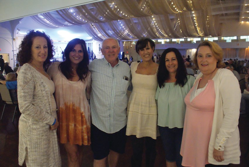 GIRLS' NIGHT OUT: Several friends got together Sunday for Rock & Rhodes Music Festival at Rhodes on the Pawtuxet. Pictured with event co-producer Brian Dupont are Theresa Martino, Pat Paolino Cruz, Leslie Palumbo, Robin Taft and Kathi Disney.
