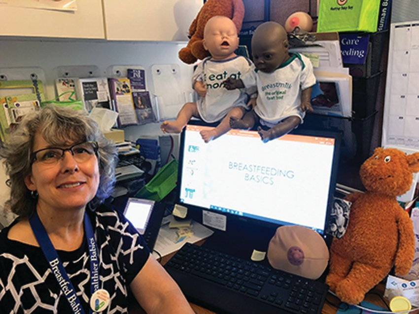 During the pandemic DeSisto provides support to breastfeeding moms virtually via computer, cell, text and video. She works in Johnston and lives in Warwick.