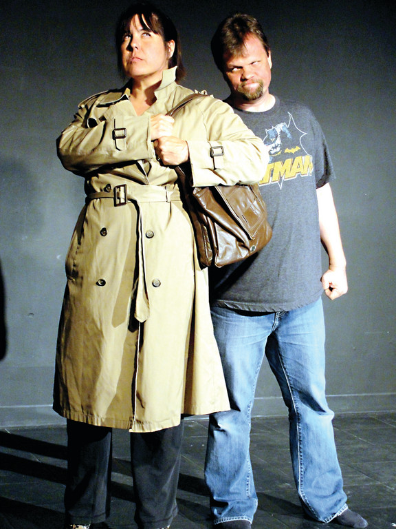 WET PAPER BAG: A woman turns the table on a petty thief, featuring Becky Burns and Mark Carter. The one-act is on of 18 being presented at the Artists Exchanges annual festival.