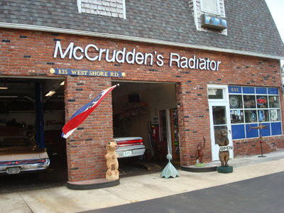 Don't pass this familiar sight, in business for over 50 year, and counting - McCrudden's Radiator Repair.