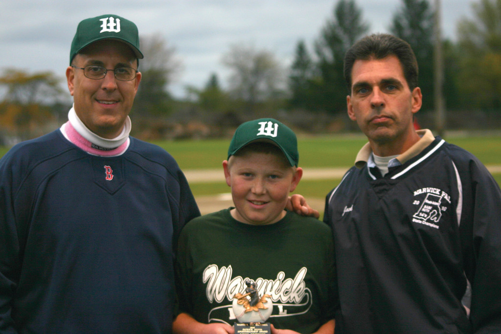 Pictured, Browning with Tim Silvia (left) and Jack Paliotte.