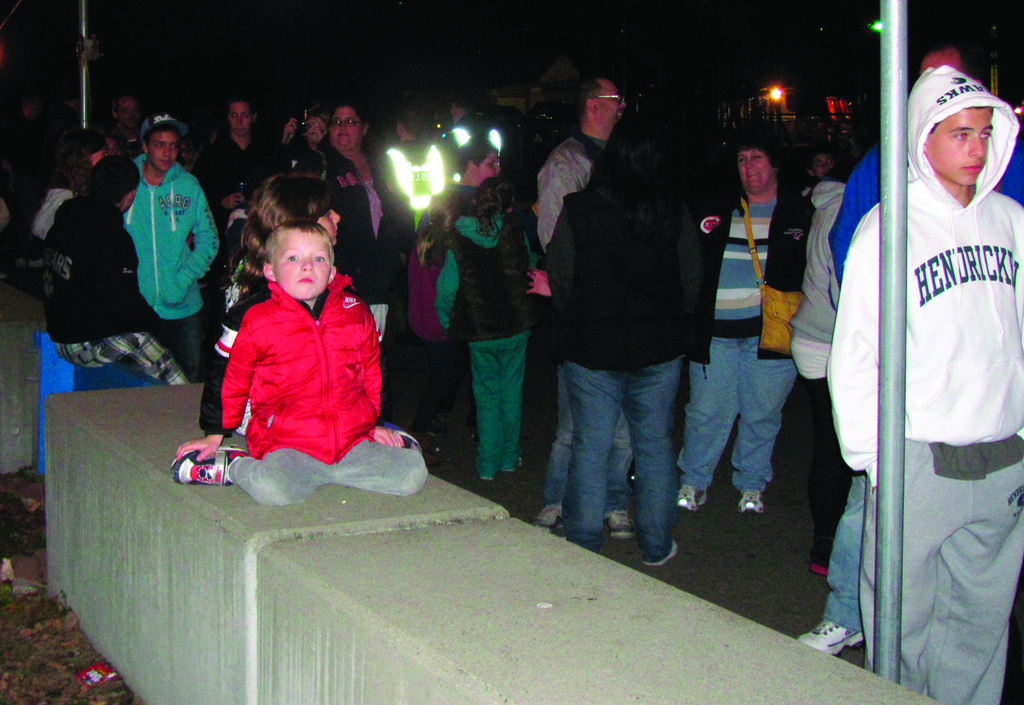CROWD FAVORITE: This is just a portion of the line that extended from the pool shed area to almost the Johnston Recreation Department office during the second of five scheduled nights for Spooky Walk.