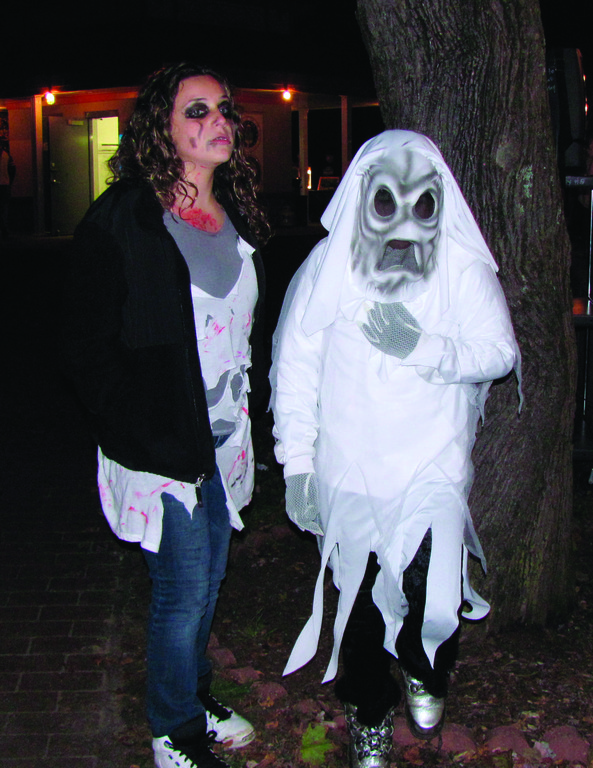 JUST KEEP COMING: The lines were long last Saturday evening during Spooky Walk 2011 at Johnston War Memorial park.