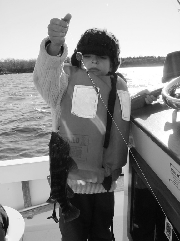 Richard Palumbo (seven years old) of North Kingstown, RI caught his first tautog this weekend (and the fifth fish of is lifetime as he was proud to claim) this past Sunday.
