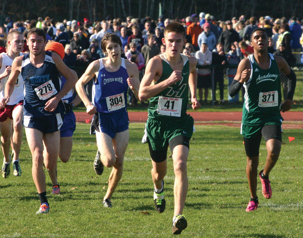 Tyler Henseler leads a pack. Henseler finished 45th overall.