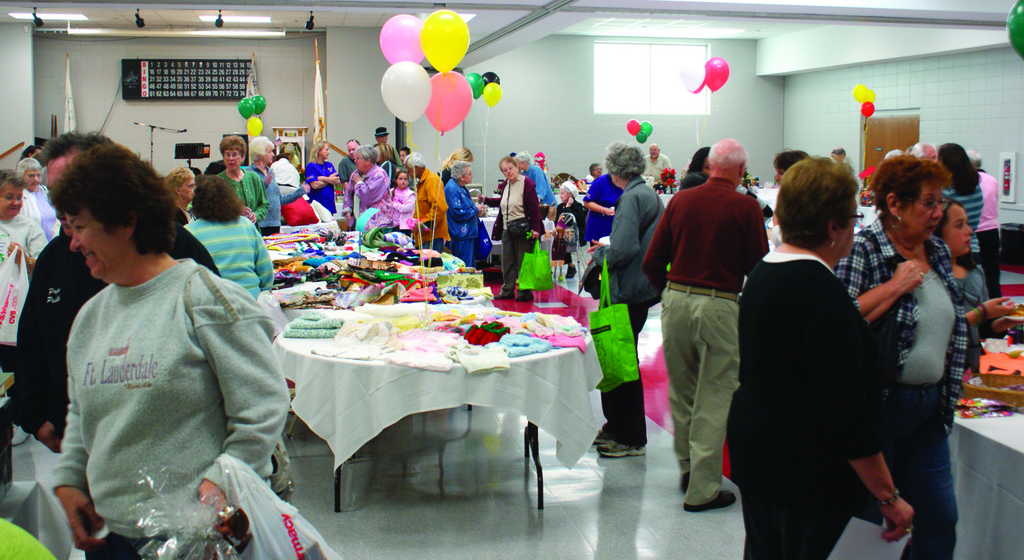 SHOPPERS DELIGHT: The Cranston Senior Center's RSVP program held their bazaar on Friday and Saturday, Oct. 21 and 22, and enjoyed a steady stream of customers. Mostly featured were handmade products by the seniors at the center.