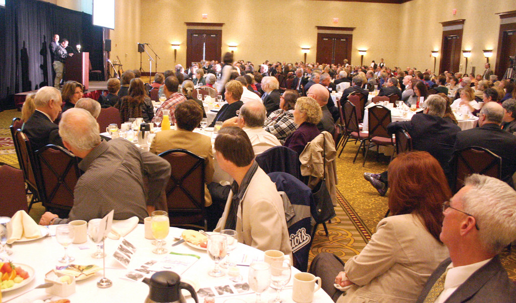 BIGGER THAN EVER: More than 550 attended the breakfast benefit, the biggest the Trudeau Center has held to date.