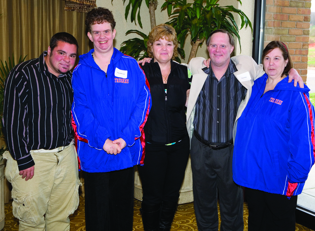"BREAKFAST PARTNERS: Andrew Palumbo, Nina Dressel, Mary Madden, Ray Foley, Agnes Desjarlais  and Laurie Beaumier as pictured at the Trudeau Center ""Keep the Dream Alive"" event at the Crowne Plaza."