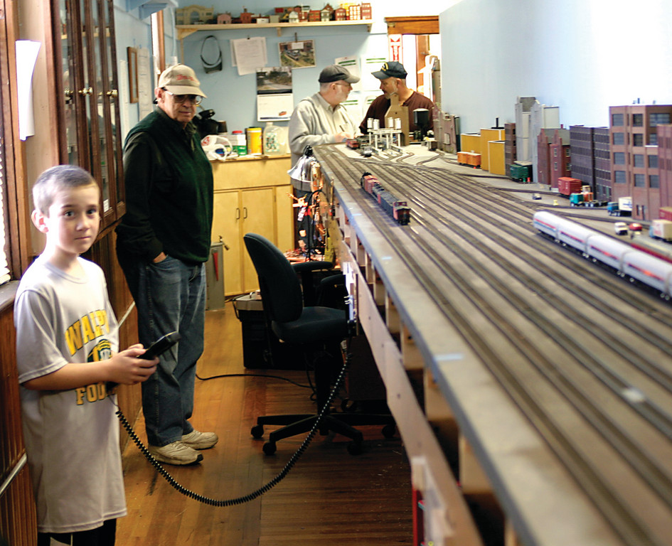 Children are welcome at the Providence Northern Railroad at the Old Warwick Grange, provided they are supervised and really love playing with trains are willing to share with the other kids; namely, their fathers, uncles and grandfathers.