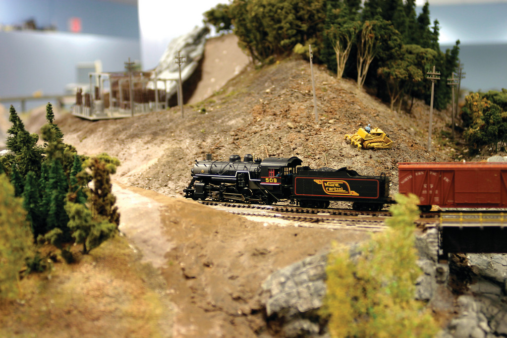 Serious model railroaders pay particular attention to getting their scenery to look authentic. The PNMR's members meticulously put together things that are borrowed, bought or scavenged to lend some realism to their layout.