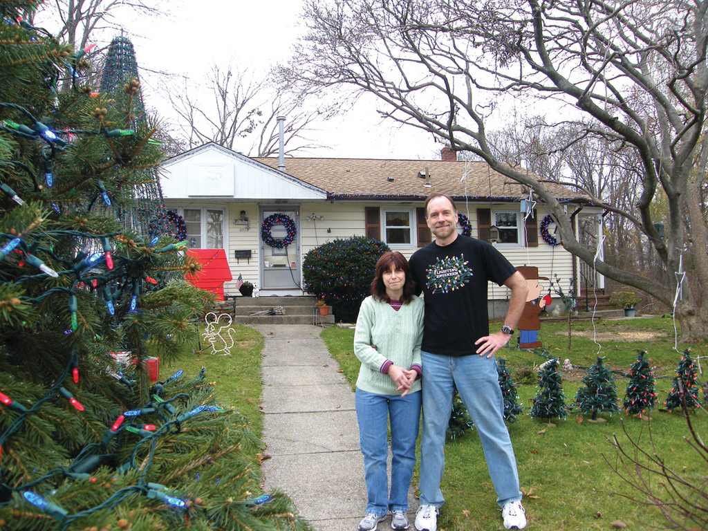 ROWLAND DISPLAY: Howard and Debbie Rowland are proud to bring holiday cheer to the community through their display.