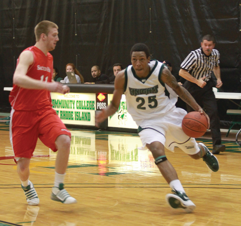 KEY COG: CCRI's Anthony Henry drives to the basket.
