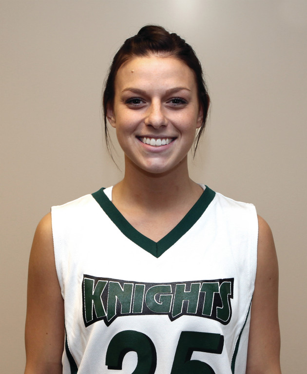 Warwick's Jess Randall is a freshman on the CCRI women's basketball team.