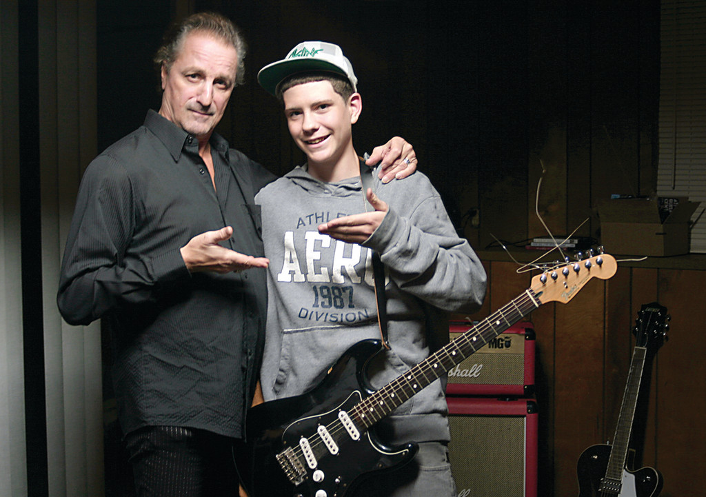 MUSICAL MENTOR: Grammy-nominated blues vocalist and harmonica player James Montgomery (left) and his band are gearing up to perform with self-taught guitarist Cory Bellucci, 15, at the Warwick Elks Club on Friday night at 9. Tickets are $15 per person and $25 per couple and can be purchased in advance by calling 401-737-9510 or 401-486-1929.