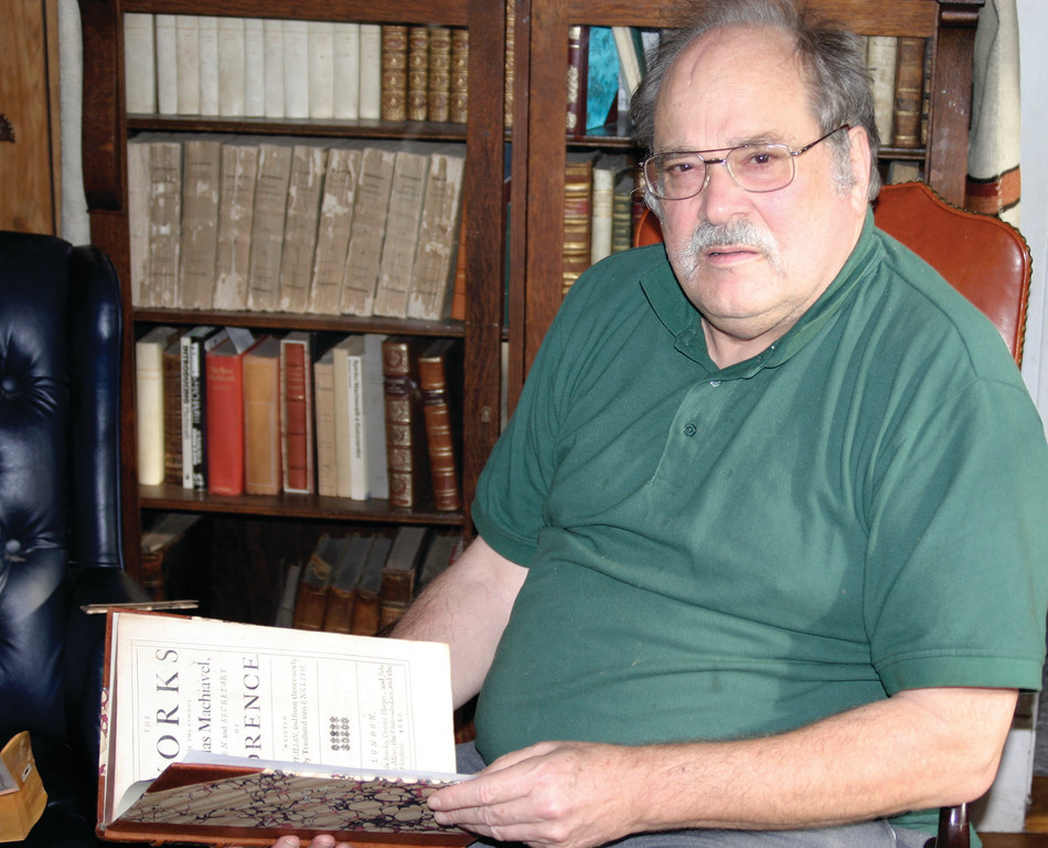 ITALO-MANIA: Cranston bookseller Samuel Hough has made early Italian books and their printers a specialty but these days, any rare or special interest book may find its way into his inventory.