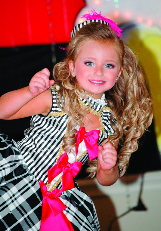 "ROCKING THE PAGEANT WORLD: Pictured is 5-year-old Isabella Barrett on the set of ""Toddlers and Tiaras,"" which airs on TLC."