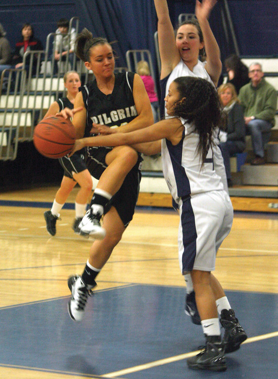 STILL IN THE FOLD: Danielle LeBlanc and Kately Reph are two of Pilgrim's five returning players from a year ago.