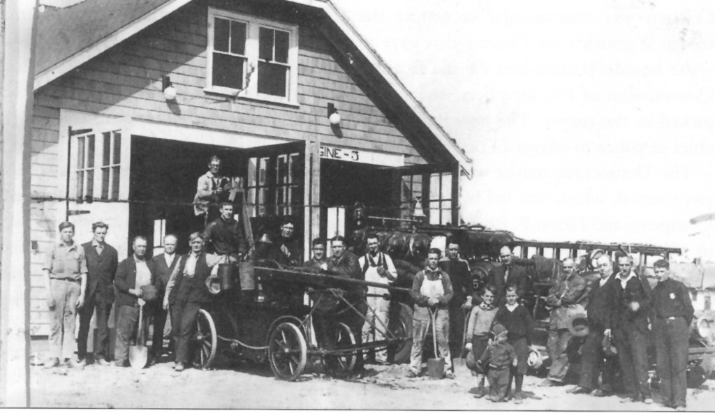 These members of the Greenwood Volunteer Fire Company No. 1 maintained their building and apparatus at their station on Kernick Street.