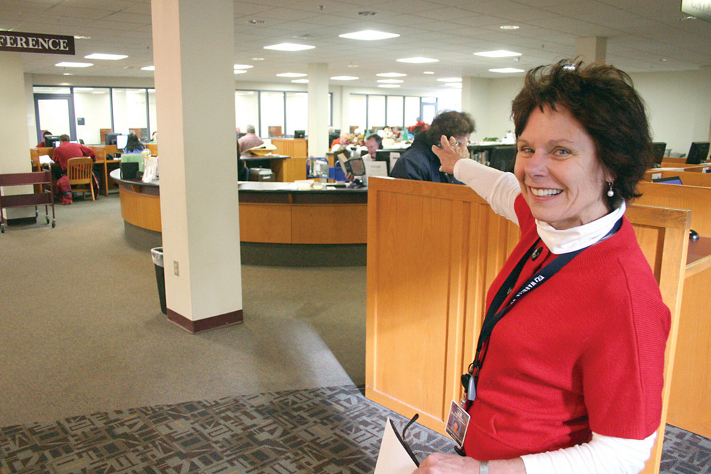 READY FOR RENOVATIONS: Warwick Library Director Diane Greenwald is looking forward to a more flexible reference area, a project to be undertaken with a Champlin grant.