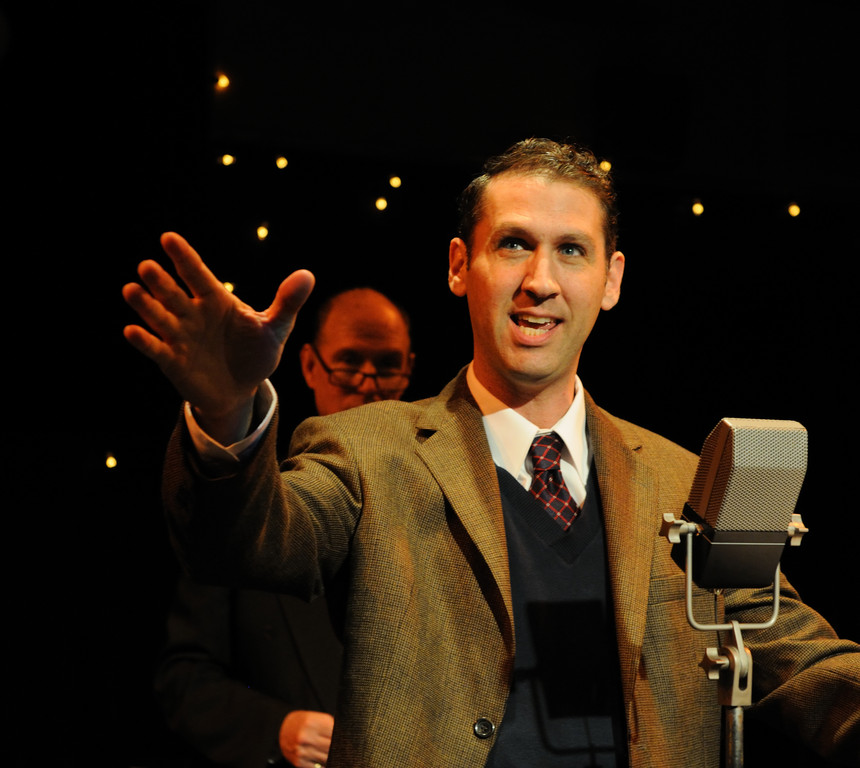 "Mauro Hantman as George Bailey in ""It's a Wonderful Life: A Live Radio Play."""
