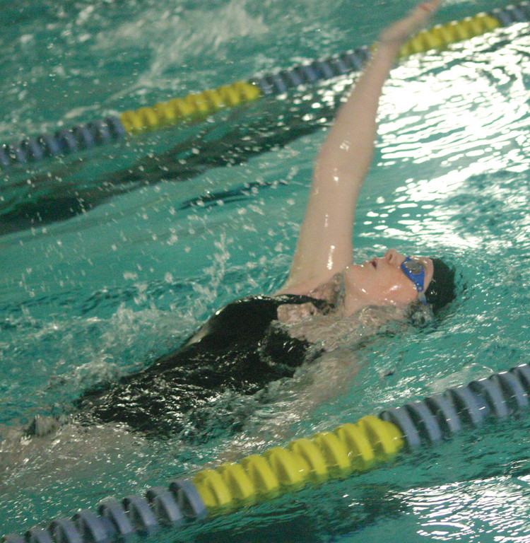 Alyssa Wilcox does the backstroke.