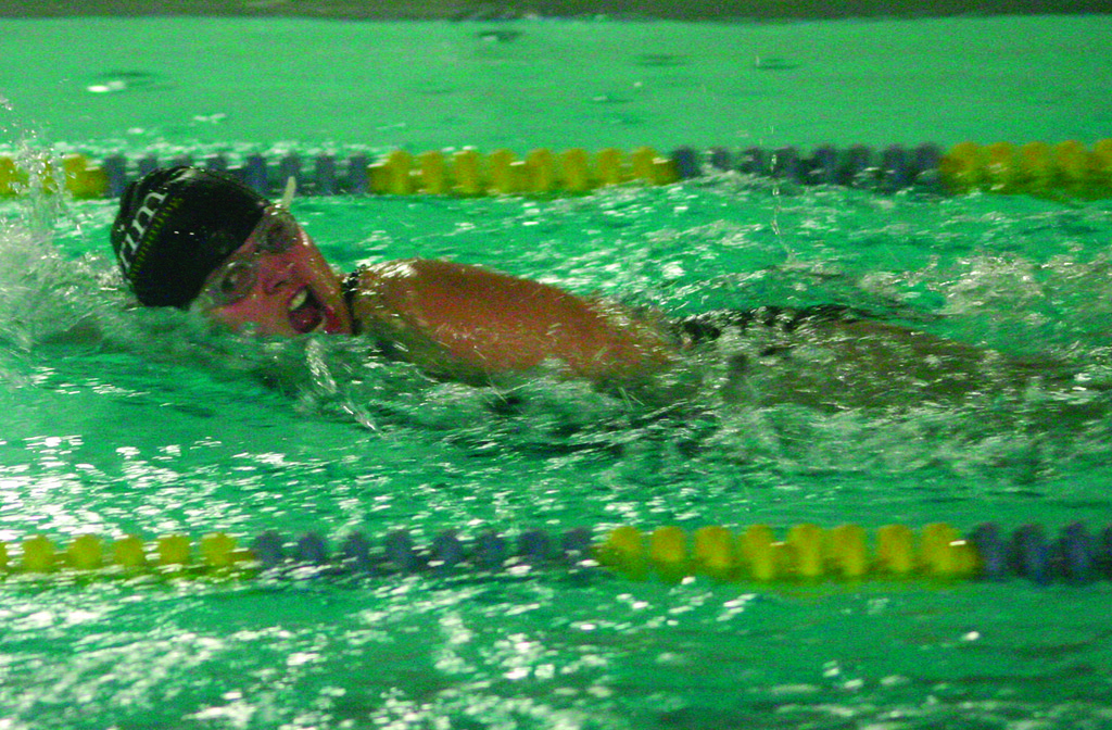 ON THE GO: Brianna Boucher participates in a freestyle event.