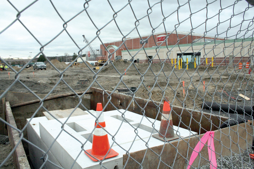 JUMP START: Even before an agreement was signed with Nordstrom, site preparation started for the new store in order that the store would be open by the 2012 Christmas holiday shopping season.