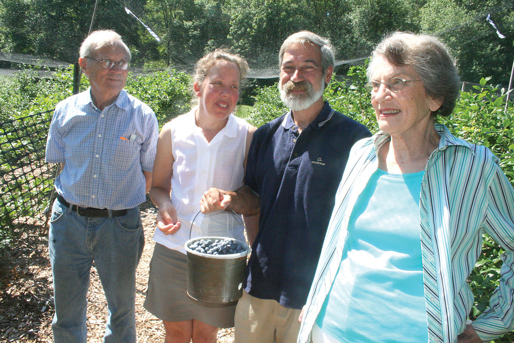 CURRENT AND FUTURE OWNERS: Mark and Betty Garrison, who started the Rocky Point Farm, flank future owners Rhonda Shumaker and Joe Gouveia in a photo taken last July.