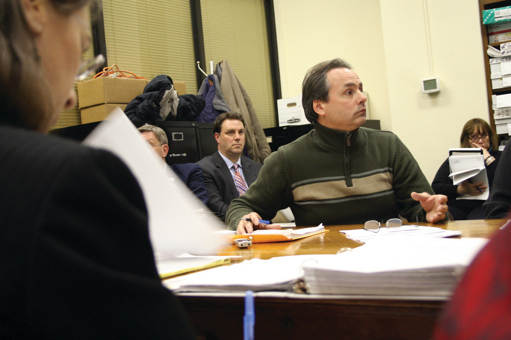 REVOLT LEADER: Robert Cote, who engineered the Car Tax Revolt after the Warwick City Council and the mayor did away with $5,500 of the $6,000 motor vehicle exemption, testifies at last Wednesday's meeting on motor vehicle values hosted by Rep. Joseph McNamara at the State House.