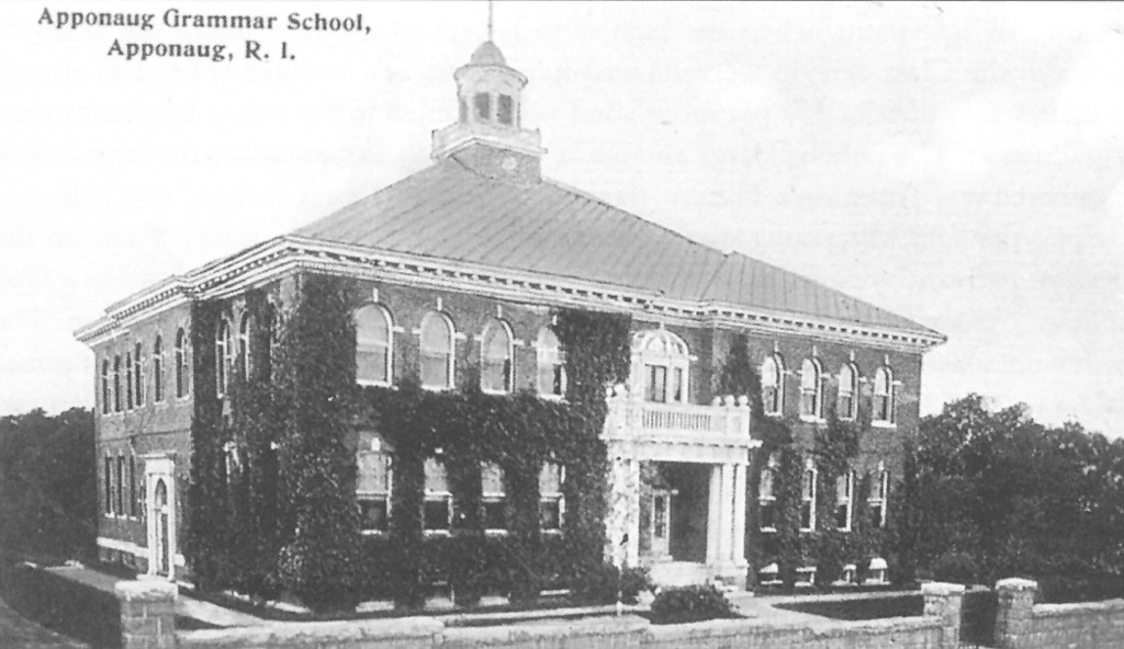 As a result of the 1913 division of Warwick, the high school went to West Warwick and the Apponaug Grammar School became the Warwick High School until it burned in 1927.