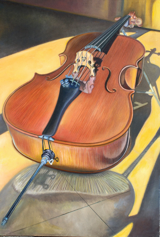 CLASSIC BEAUTY: There is something about the stillness of a musical instrument at rest that appeals to the eye and is evocative of the ear. Richard Mathews captures both in his paintings of stringed instruments.